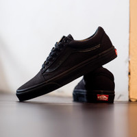Vans Old Skool Classic All Black / Black - Hitam, 36