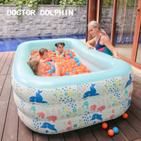 Doctor Dolphin Square Inflatable Baby Kids Pool / Kolam Renang Anak