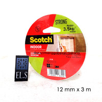 3M Scotch Mounting Tape Indoor 12 mm x 3 m