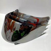 kaca helm silver/flat visor iridium silver kyt rc7 kut r10 kyt k2rider