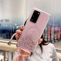 Case Samsung Galaxy S20 Note 10 20 Ultra Plus Lanyard Glitter Sequins