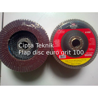 Mata Gerinda Amplas Flap Disc 4 inchi euro grit 100