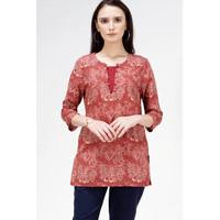 Blouse Wanita / Severus Maroon Shirt 23436T5MA - Bodytalk