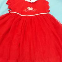 Dress Hello Kitty anak Usia 6-7th