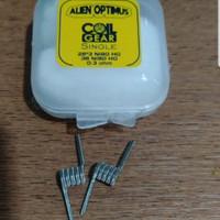 Coil Gear Alien Optimus Fused Clapton Coil Ni80 28x3+38G utk WASP NANO