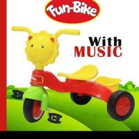 sepeda roda 3 fun bike lion music /mainan sepeda /sepeda anak balita