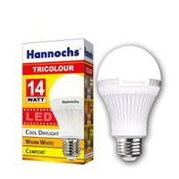 lampu led hannochs bulb bohlam 14 watt tricolour 3 pilihan warna