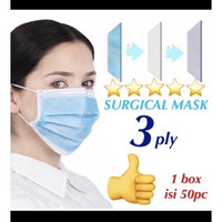 Masker 3 Ply / Masker 3Ply / Surgical Mask Isi 50 pcs bersertifikat CE