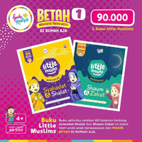 Buku Anak Islam Little Muslim Set 2 Buku Betah di Rumah
