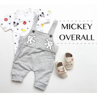 BJ303 MICKEY OVERALL 6-15 bulan baju monyet setelan kaos anak babyboy