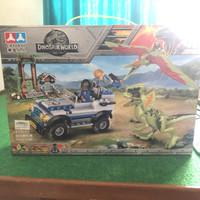Mainan edukatif brick block besar jurassic park 332pcs dinosaurus