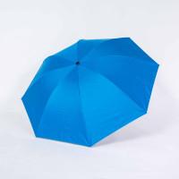 Payung lipat 3 polos biru abu / lapis hitam / anti UV / GRC - A303