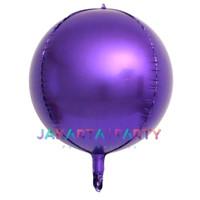 Balon Foil Bulat Orbz Ungu / Balon Orbs 4D Helium Quality / Balon Orbz