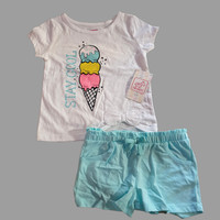 Setelan anak perempuan branded Swiggles set summer - Ice Cream
