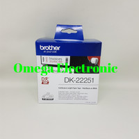 Brother Label DK22251 Black & Red DK 22251 62mmx15.24m Continuous Tape