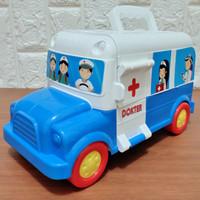 Mainan Anak 2in1 Mobil Ambulan Dokter Set