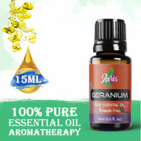 Aeris Geranium Essential Oil Aromatherapy (Minyak Geranium) 15ML