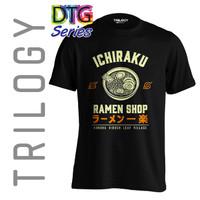 Kaos Premium - Naruto Ichiraku Ramen Shop - TRILOGY DTG 0324 - ANIME - Hitam, S