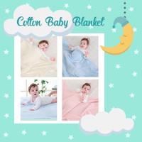 Laura Baby Blanket Selimut Kain Bedong Bayi Katun PREMIUM - Merah Muda
