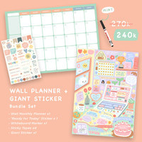 Moon Pancake Wall Planner and Giant Sticker Bundle Set