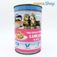 Savvy - 400g Tuna RedMeat topping KANIKAMA in Jelly kornet kucing