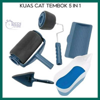 Kuas Cat Tembok Paint Runner Pro Roller Brush Tools 5 in 1