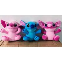 Boneka Stitch Ukuran Sedang (M) - Merah Muda