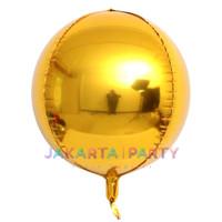 Balon Foil Bulat Orbz Gold / Balon Orbs 4D Helium Quality / Balon Orbz