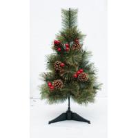 Pohon Natal Murah Jarum Emas Lebat Pinus Cherry 60cm-Dekorasi Natal