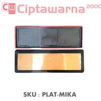 Plat Nomor Mika Mobil Cover Tatakan Mica Akrilik Dudukan Acrylic 2PC