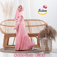 Baju muslim anak perempuan set Gamis Sabrina by HoU Kids