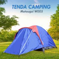 Tenda Camping Matougui W004 Double Layer Kapasitas 3 / 4 Orang Terbaru