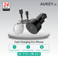 Aukey Car Charger CC-Y13 + Aukey Cable CB-CL1