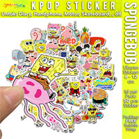 50pcs Kartun Sticker SPONGEBOB Stiker Label Skateboard HP Laptop Motor