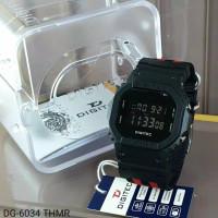 jam tangan pria DIGITEC 6034 Tali kanvas digital original