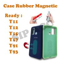 Case Rubber Mahnetic For Y11 Y12 Y15 Y17 Y91 Y93 Vivo Casing Anti Noda