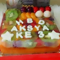 [BANDUNG ONLY] Puding Buah/Cokelat ulang tahun-anniversary size M