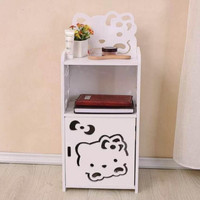 Lemari kayu Kabinet Side desk KITTY Box Storage Rak serbaguna HK808