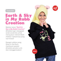 Sweater anak perempuan afrakids astronot