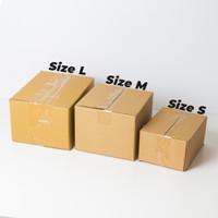 Kardus Box Tambahan Packaging Size S Untuk Paket Aman Bahan Kardus