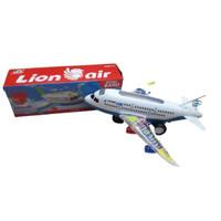 Mainan Pesawat Terbang Airline Airbus Garuda Baterai Suara Lampu