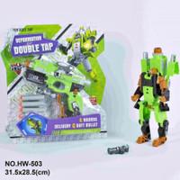 Mainan Anak 2in1 Tembakan Robot Deformation of Double Tap