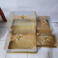 Kotak hantaran seserahan mika tile isi 4 warna gold