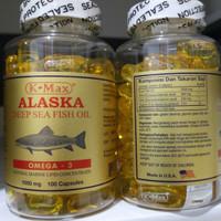k-Max alaska deep sea fish oil omega 3 ikan salmon