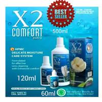 X2 COMFORT CAIRAN PEMBERSIH SOFTLENS. UK. 500ML/120ML/60ML