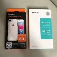 Spigen Ultra Hybrid 2 Case iPhone 7 / 8 Plus 8+ Tempered Glass Nillkin