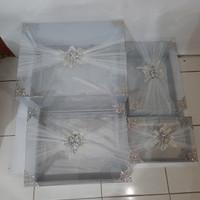 Kotak hantaran seserahan mika tile isi 4 warna silver