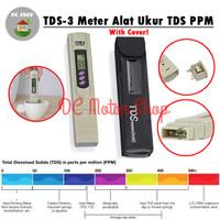 TDS / TDS-3 Meter Alat Ukur Hidroponik Air Aquarium ppm Kolam + Cover