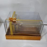 kotak hantaran/ kotak seserahan mika pita isi 4 warna gold