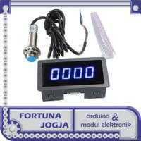 Modul Tachometer 4 Digit Display RPM Sensor Kecepatan Proximity Sensor